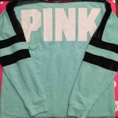Vs pink mesh crew EUC!! Size xs! I do trade but only for my iso's, look for my iso listing on my page, if u do nt have them dont ask! Id much Rather sell, need the money. Offers welcome but only thru offer button! Will post more pics tom! PINK Victoria's Secret Tops Tees - Long Sleeve