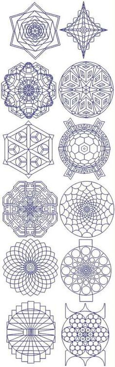 amazing fractal embroidery designs--great mandala inspiration, as well