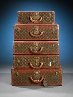 old trunks and luggage | Louis Vuitton: The Steamer Trunk 1904-1920