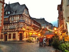 Altkonischer Hof, Bacharach, Rhine Valley, Germany.  Stunning wine region, with old medieval style buildings and lots of culture. On the itinerary.