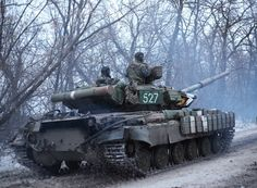 Ukrainian T-64 near Donetsk Airport