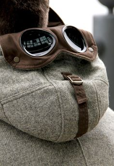 I would wear this C.P. COMPANY GOGGLE JACKET every damn day. -Suz