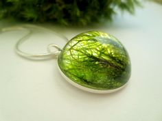 Real Moss Pendant of the Deep Forest: green real moss by Neraidas