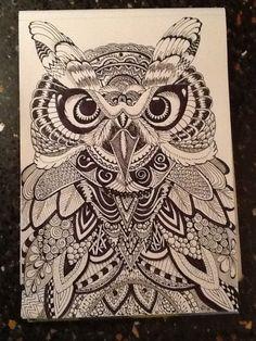 Doodled Owl