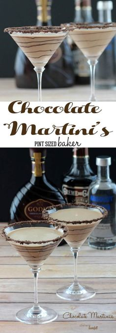Enjoy girls night in with these decadent Chocolate Martinis! The perfect blend o… Enjoy girls night in with these decadent Chocolate Martinis! The perfect blend [. Christmas Drinks, Holiday Drinks, Summer Drinks, Holiday Parties, Christmas Punch, Winter Drinks, Fancy Drinks, Cocktail Drinks, Cocktail Recipes