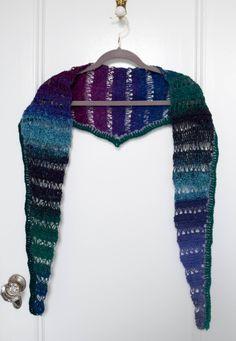 Broomstick Lace Crochet Shawlette