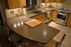 kitchen ideas with acid concrete | gray concrete countertop with subtle variegated pattern 8 images acid ...