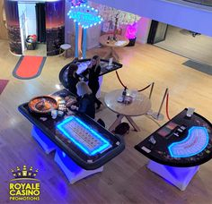 VIP fun casino with LED tables at the Mill Barns, Alveley Barns, Photo Booth, Vip, Tables, Home Appliances, Wedding Ideas, Luxury, House Appliances, Mesas