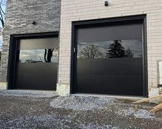 Modern Exterior Garage Doors Woodbridge - Products I Want Fiberglass Garage Doors, Garage Doors For Sale, Black Garage Doors, Garage Door Windows, Garage Door Styles, Wood Garage Doors, Garage Door Design, Front Doors, Sliding Doors