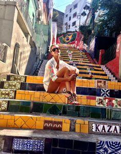 Rio de Janeiro- Selaron stairs by Chilean-born artist Jorge Selarón
