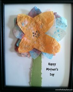 Easy DIY Mother's Day Gift Ideas using dyed toilet paper!