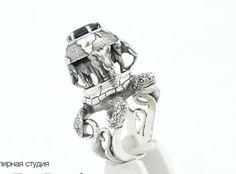 Discworld ring  sterling silver by AlexFoxJewelryStudio on Etsy