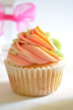 Rainbow Sherbet Cupcakes |House of Yumm