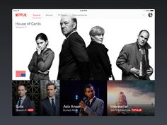 Sketch App free sources, Netflix for iPad resource, for Sketch App. Netflix for iPad Sketch file freebie. House Of Cards Seasons, Web Design, Graphic Design, Desktop Design, Visual Hierarchy, Tv App, User Interface Design, Interactive Design, Movies And Tv Shows