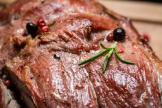 Roasted to perfection with sweet and savory spices, this venison roast recipe is bound to spike your tastebuds. Venison Roast, New Brunswick Canada, What's For Breakfast, Roast Recipes, Steak, Spices, Tasty, Lunch, Healthy Recipes