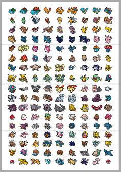 Gotta Catch 'em All 151 Original Pokemon Cross by FangirlStitches, $14.00