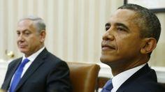 Presiden AD Barack Obama dan Perdana Menteri Israel, Benjamin Netanyahu bersiap untuk konferensi pers di Oval Office ,White House in Washing...