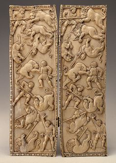 Diptych with Circus Scenes  Byzantine, 5th century AD