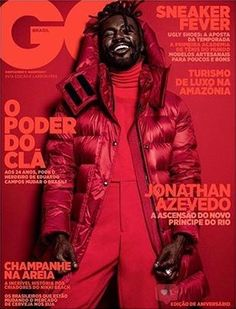 Jonathan Azevedo by Pedro Dimitrow for GQ Brazil May 2018 Freelance Graphic Design, Graphic Design Posters, Graphic Design Inspiration, Typography Design, Logo Design, Gq, Esquire, Cover Report, Publication Design