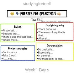 English as a second language esl for teachers and students esl today all i did was reviewed my previous notes practiced my speaking skills with the help of the free magoosh pdf speaking templates and another pronofoot35fo Image collections