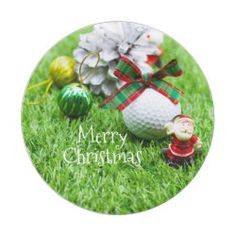 Golf Ball Crafts Santa Claus with golf ball with Christmas ribbon Paper Plate - Santa Claus with golf ball with Christmas ribbon Christmas Paper Plates, Christmas Ribbon, Diy Christmas Ornaments, Golf Christmas Gifts, Merry Christmas Santa, Best Golf Irons, Golf Ball Crafts, Christmas Dinnerware, Perfect Golf