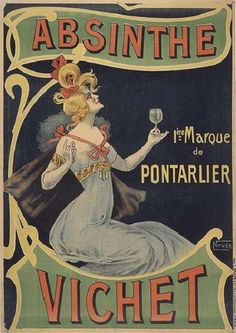 """Absinthe Vichet"" (1900) - France  L. Revon / ""Nover"""