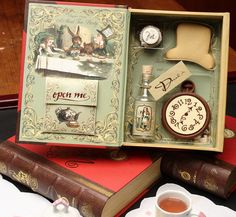 Alice in Wonderland Tea Party Set with Book, Cd, and Chocolate - Birthday Playset by alicemaravilha, via Flickr
