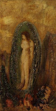 The Birth of Venus  Artist: Odilon Redon  Style: Symbolism  Genre: mythological painting  Technique: oil  Material: panel  Gallery: Private Collection