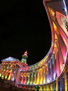 Denver colorado christmas lights light up the city buildings it s a