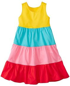 Take a look at this Pink Color Block Twirl Power Racerback Dress - Toddler & Girls today! Girls Dresses Sewing, Frocks For Girls, Kids Frocks, Toddler Girl Dresses, Toddler Girls, African Dresses For Kids, Latest African Fashion Dresses, Baby Dress Design, Frock Design