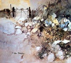 Verja de hierro, Acuarela de John Blockley