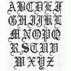 Alphabet for cross-stitch