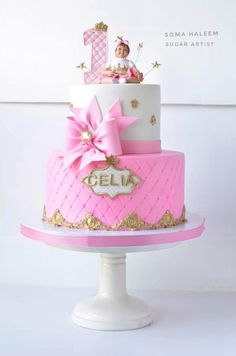 Princeas cake - cake by Soma_Haleem Fondant, Balloons, Sugar, Cake, Desserts, Cakes, Tips, Cakes For Kids, Pie Cake