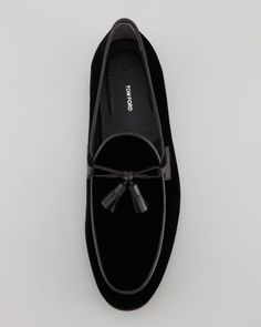 Orson Black Velvet Tassel Loafer, by Tom Ford, via Neiman Marcus. Men's Fall Winter Fashion.