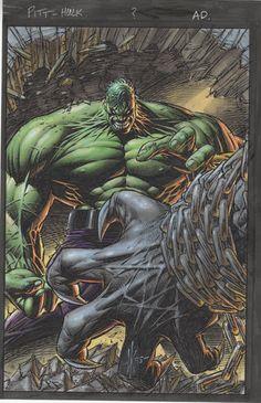 #Hulk #Fan #Art. (Pit vs Hulk Color) By: Albert Moy, Drawn By: Dale Keowns. (THE * 5 * STÅR * ÅWARD * OF: * AW YEAH, IT'S MAJOR ÅWESOMENESS!!!™) ÅÅÅ+