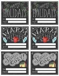 Free Chalkboard-Style Printable Gift Tags | Poppytalk