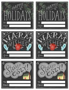 Poppytalk: Free Chalkboard-Style Printable Gift Tags