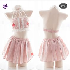 Japanese girl strawberry underwear pajamas suit from HIMI'Store Kawaii Fashion, Lolita Fashion, Cute Fashion, Fashion Outfits, Kawaii Dress, Kawaii Clothes, Pastel Clothes, Jolie Lingerie, Pretty Lingerie