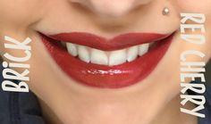 Brick vs. Red Cherry LipSense // SeneGence independent distributor #237343
