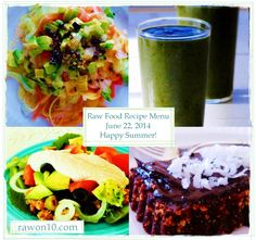 Raw on $10 a Day (or Less!): Raw Food Recipe Menu: June 22, 2014