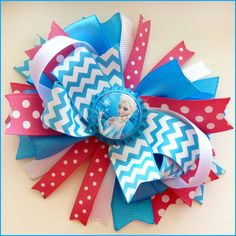 Disney Frozen Hair Bow with ELSA Pink and by PolkaDottedPropShop, $7.99