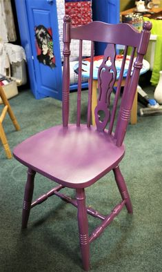 Quacker kitchen chair Kitchen Chairs, Dining Chairs, Purple, Furniture, Home Decor, Decoration Home, Room Decor, Kitchen Stools, Dining Chair
