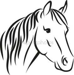 Find horse head stock images in HD and millions of other royalty-free stock photos, illustrations and vectors in the Shutterstock collection. Horse Head Drawing, Horse Drawings, Simple Horse Drawing, Drawing Art, Horse Outline, Horse Stencil, Horse Illustration, Free Horses, Horse Silhouette