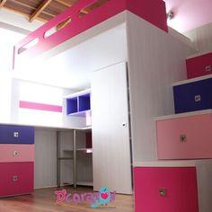 Camarotes funcionales y divertidos para el cuarto de los niños. By D'corazón