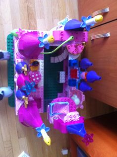 Inside the Lego Duplo princess castle.