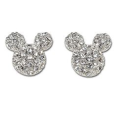 Pavé Crystal Mickey Mouse Earring by Disney Couture $49.50
