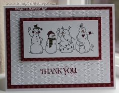 Frosty Friends Quick Thank You by amyk3868 - Cards and Paper Crafts at Splitcoaststampers