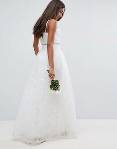 51ca95776741 ASOS Bridal - Jupe longue avec appliqué Maxi jupe par ASOS Collection  Organza délicat Doublure en
