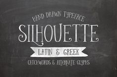 Silhouette Fonts Silhouette is a hand drawn typeface inspired by vintage hand drawn lettering styles.It works perfec by Anastasia Dimitriadi Hand Drawn Lettering, Lettering Styles, Business Brochure, Business Card Logo, Anastasia, Greek Font, Whimsical Fonts, Silhouette Fonts, Script Type