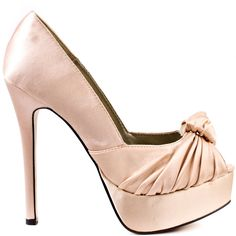 Heels I Love #heels #summer #high_heels #color #love #shoes Sure Thing - Nude Satin                      Luichiny